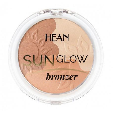 Hean Sun Glow Bronzer rozświetlający puder brązujący 9 naturalna opalenizna