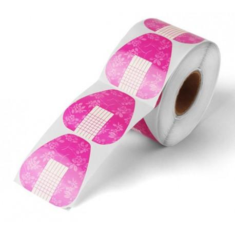 Formy do przedłużania paznokci szerokie Pink 500 szt.