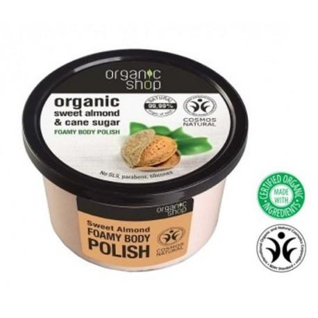 Organic-Shop-Body-Scrub-Sweet-Almond-&-Sugar-Cane-peeling-do-ciała-Słodki-migdał-250-ml