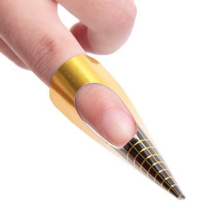 Formy do przedłużania paznokci prostokątne Gold 500 szt.