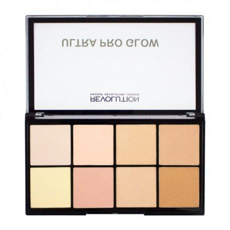 Makeup-Revolution-Ultra-Pro-Glow-paleta-rozświetlaczy-drogeria-internetowa-puderek.com.pl