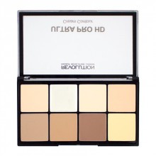 Makeup Revolution HD Pro Cream Contour Palette Fair paleta podkładów do konturowania