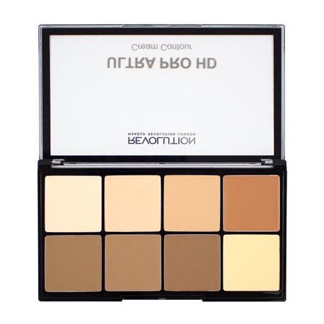 Makeup-Revolution-HD-Pro-Cream-Contour-Palette-Light-Medium-paleta-podkładów-do-konturowania-konturowanie-twarzy-drogeria-intern