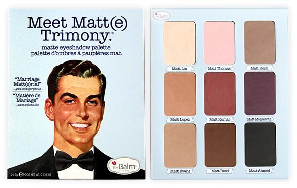 THE BALM - Meet Matt(e) TRIMONY - Paleta 9 cieni do powiek