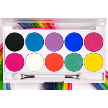 Beauty UK Posh Palette Festival paleta 10 cieni do powiek