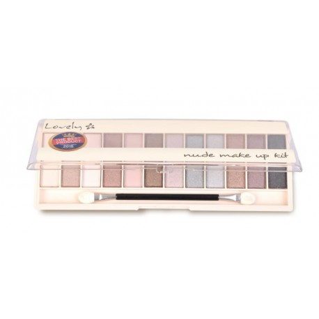 Lovely Nude Make Up Kit paleta 12 cieni do powiek