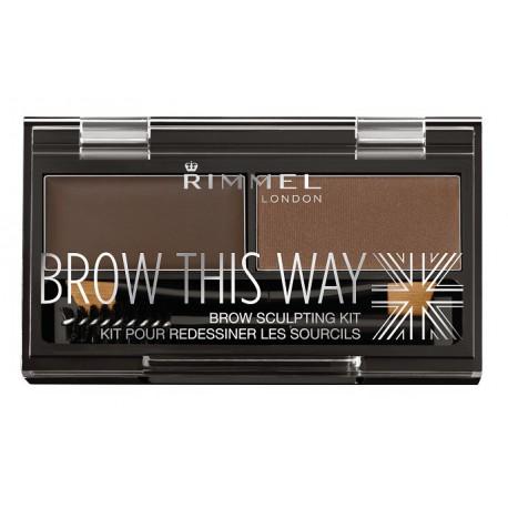 Rimmel-Brow-This-Way-Brow-Sculpting-Kit-003-Dark-Brown-zestaw-cieni-do-brwi-drogeria-internetowa