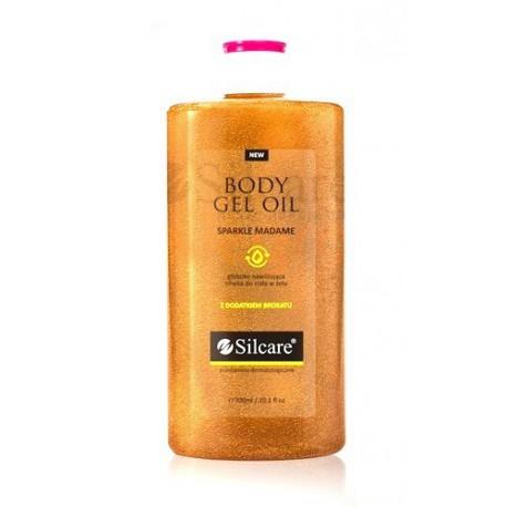 Silcare Quin Body Gel Oil Sparkle Madame oliwka w żelu z drobinkami brokatu 300 ml