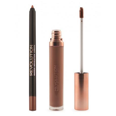 Makeup Revolution Retro Luxe Kit Noble matowa pomadka + konturówka do ust