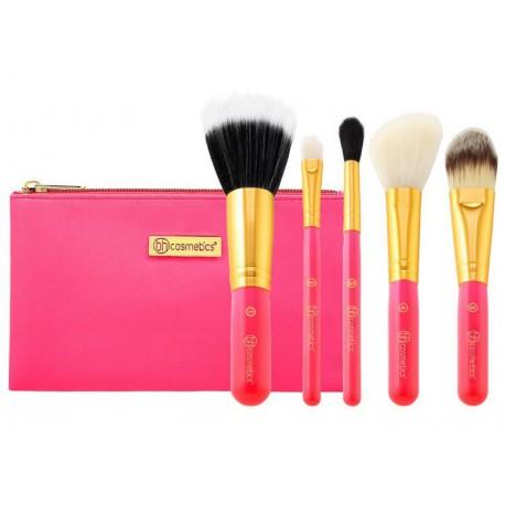 Bh-Cosmetics-Neon-Pink-Brush-Set-zestaw-6-pędzli-do-makijażu-w-kosmetyczce-pędzle-do-makijażu-drogeria-internetowa-puderek.com.p