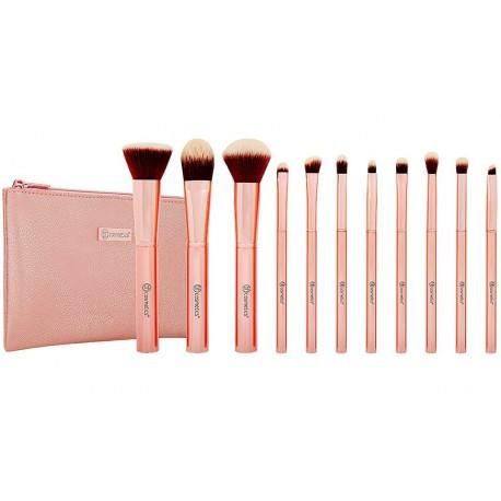 BH-Cosmetics-Metal-Rose-Brush-Set-zestaw-11-pędzli-do-makijażu-w-kosmetyczce-pędzle-do-makijażu-drogeria-internetowa-puderek
