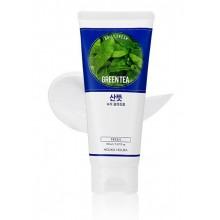 Holika-Holika-Daily-Fresh-Cleansing-Foam-Green-Tea-pianka-oczyszczająca-150-ml-koreańskie-kosmetyki-drogeria-internetowa-puderek