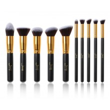 Jessup-T057-Kabuki-Set-zestaw-10-pędzli-do-makijażu-Black-Gold-pędzle-do-makijażu-drogeria-internetowa-puderek.com.pl