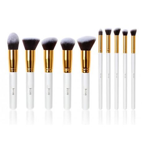 Jessup-T065-Kabuki-Set-zestaw-10-pędzli-do-makijażu-White-Gold-pędzle-do-makijażu-drogeria-internetowa-puderek.com.pl