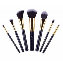 Jessup-T106-Travel-Set-zestaw-7-pędzli-do-makijażu-Black/Gold-pędzle-do-makijażu-drogeria-internetowa-puderek.com.pl