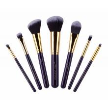 Jessup-T107-Travel-Set-zestaw-7-pędzli-do-makijażu-Purple/Gold-pędzle-do-makijażu-drogeria-internetowa-puderek.com.pl