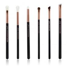 Jessup-T161-Brushes-Set-Black-Rose-Gold-zestaw-6-pędzli-do-makijażu-oczu-pędzle-do-makijażu-drogeria-internetowa-puderek.com.pl