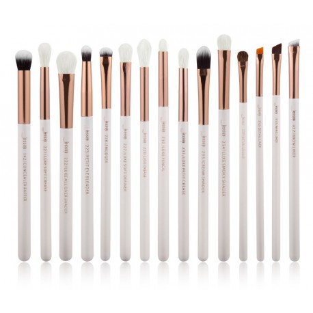 Jessup-T217-Brushes-Set-White-Rose-Gold-zestaw-15-pędzli-do-makijażu-oczu-miedziane-skuwki-drogeria-internetowa-pędzle-do-makija