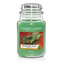 Yankee Candle Holiday Sage słoik duży świeca zapachowa