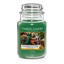 Yankee-Candle-Cinnamon-&-Cedar-słoik-duży-świeca-zapachowa-drogeria-internetowa-puderek.com.pl