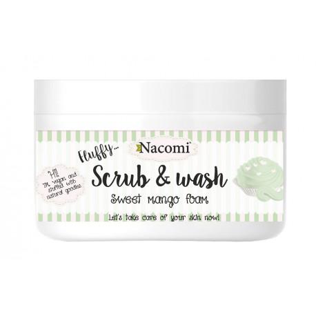 Nacomi-Scrub-&-Wash-pianka-peelingująco-myjąca-Słodkie-Mango-180-ml-drogeria-internetowa