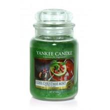 Yankee Candle Cool Christmas Mint słoik duży świeca zapachowa
