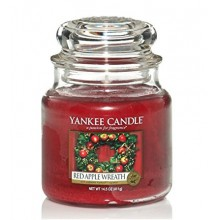 Yankee-Candle-Red-Apple-Wreath-słoik-średni-świeca-zapachowa-drogeria-internetowa