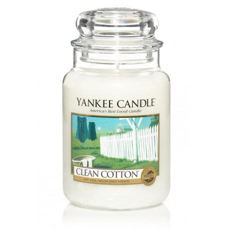 Yankee Candle Clean Cotton słoik duży świeca zapachowa