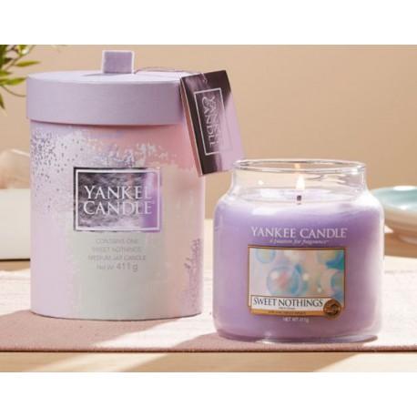 Yankee Candle Enjoy the Simple Things Gift Set Sweet Nothings średni słoik świeca zapachowa