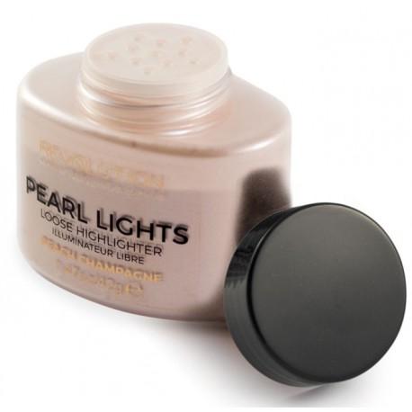 Makeup-Revolution-Pearl-Lights-Loose-Highlighter-Pink-Champagne-rozświetlacz-drogeria-internetowa-puderek.com.pl