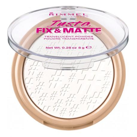 Rimmel Insta Fix and Matte Translucent Powder transparentny puder matujący