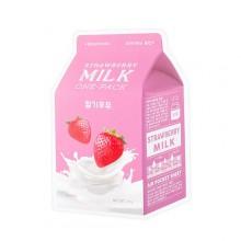 A'pieu-Strawberry-Milk-One-Pack-maska-w-płacie-kosmetyki-koreańskie-puderek.com.pl