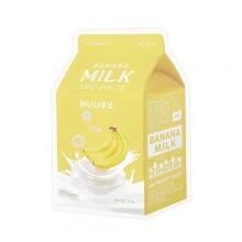 A'pieu-Banana-Milk-One-Pack-maska-w-płacie-kosmetyki-koreańskie-puderek.com.pl