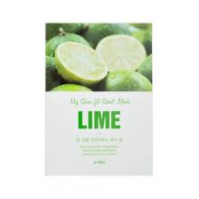 A'pieu-My-Skin-Fit-Sheet-Mask-Lime-maska-w-płacie-kosmetyki-koreańskie-puderek.com.pl