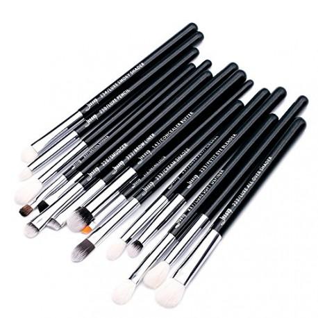 Jessup T177 Brushes Set Black/Silver zestaw 15 pędzli do makijażu oczu