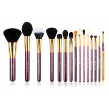 Jessup-T095-Brushes-Set-Purple-Gold-zestaw-15-pędzli-do-makijażu-drogeria-internetowa-puderek.com.pl