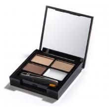 Makeup Revolution zestaw do brwi z woskiem Focus & Fix Eyebrow Kit Light to medium