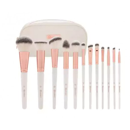 Bh-Cosmetics-Rose-Romance-Brush-Set-zestaw-12-pędzli-do-makijażu-w-kosmetyczce-pędzle-do-makijażu-drogeria-internetowa-puderek