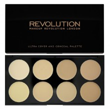 Makeup Revolution paleta 8 korektorów Light Ultra Cover and Conceal Palette