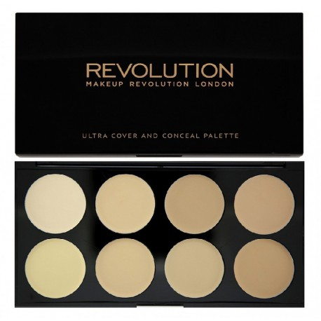 Makeup-Revolution-paleta-8-korektorów-Light-Ultra-Cover-and-Conceal-Palette-drogeria-internetowa-puderek.com.pl