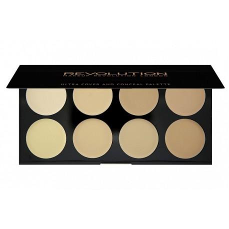 Makeup Revolution paleta 8 korektorów Light Ultra Cover and Conceal Palette