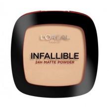 Loreal-Infallible-24H-Matte-Powder-225-Beige-długotrwały-puder-drogeria-internetowa-puderek.com.pl