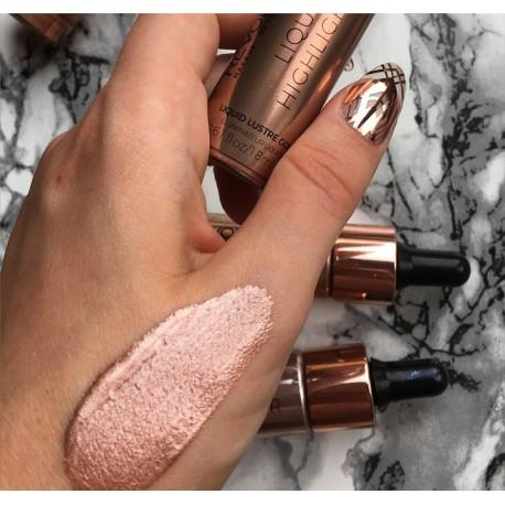 Makeup Revolution Liquid Highlighter Liquid - Lustre Gold - płynny rozświetlacz