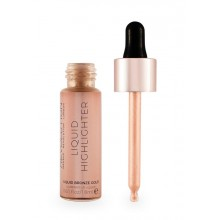 Makeup-Revolution-Liquid-Highlighter-Liquid-Bronze-Gold-płynny-rozświetlacz-drogeria-internetowa-puderek.com.pl