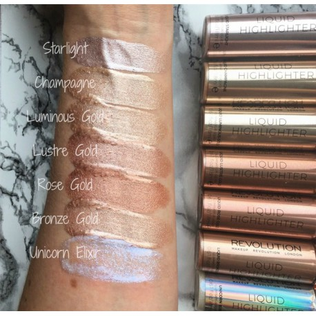 Makeup Revolution Liquid Highlighter Liquid - Unicorne Elixir - płynny rozświetlacz
