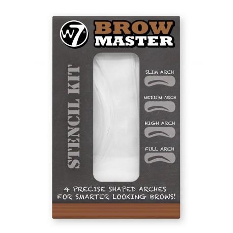 W7 Brow Master Stencil Kit - zestaw szablonów do brwi