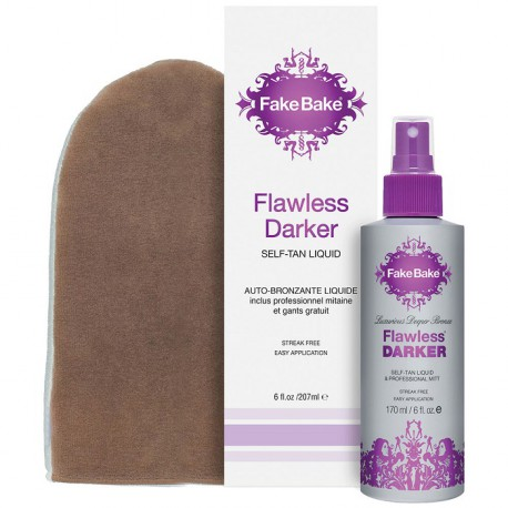 Fake Bake Luxurious Flawless Darker Self-Tan Liquid - samoopalacz w spray'u + rękawica 170 ml