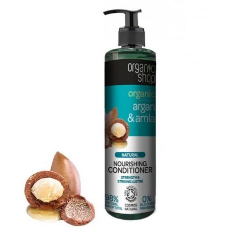 Organic Shop - Organiczny Argan i Amla - balsam do włosów - głębokie odżywienie 280 ml
