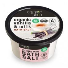 Organic Shop Bath Salt - Organiczna Wanilia i Mleko - sól do kąpieli 250 ml