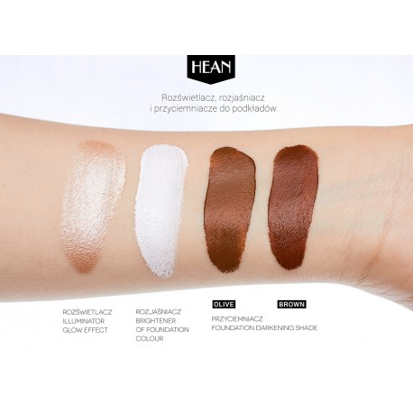 Hean Foundation Darkening Shade - Olive - emulsja przyciemniająca podkład